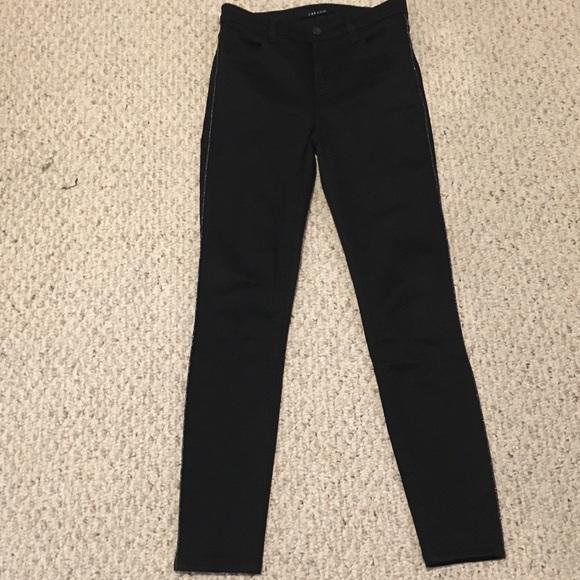 J Brand Maria High Rise black super skinny jeans